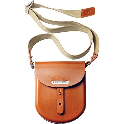 Image of Bike Pack Accessories Brooks England B1 Moulded Leather Bag, Small, Honey