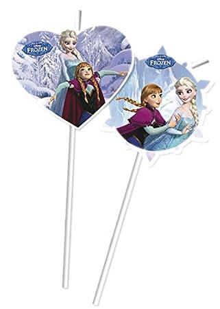 6Pajitas * Frozen * para I Niños Cumpleaños o Día A Tema ...