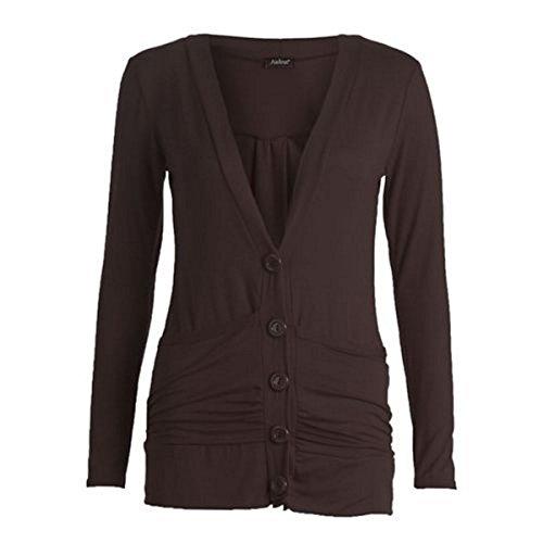 21FASHION - Camiseta de manga larga - para mujer marrón