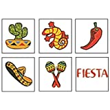 Mexican Fiesta Temporary Tattoos - 72 ct
