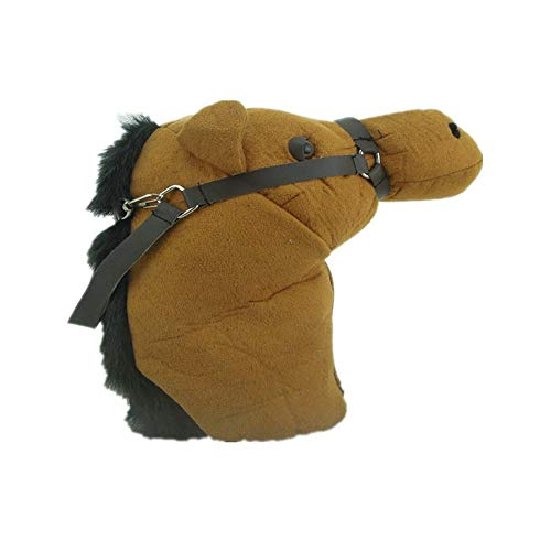 Protective Golf Iron Headcovers Golf Putter Horse Headcovers Cartoon Animals Golf Club Decorative Cover Standard Size No.3 No.5 Wood Golf Club Protector With Horse Reins Design for Iron Heads