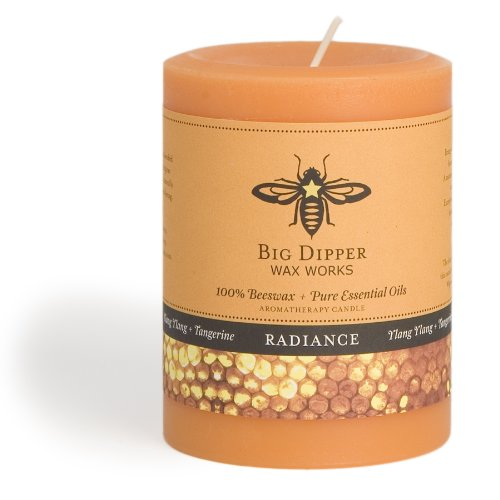 Long-lasting Hand-cast 100% Pure Beeswax Candle