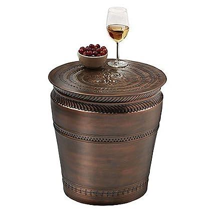 Drum Barrel Garden Stool In Oil Rubbed Bronze