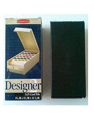 Rubbermaind R2402-1 Designer 2 3'' x 5'' Card File 4 1/2'' x 5 1/2'' x 12 7/8'' Ebony Holds 1200 Cards (Virgin Vintage Product) by Designer 2