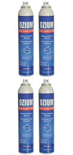 Ozium Air Sanitizer Reduces Airborne Bacteria Eliminates Smoke & Malodors Spray Air Freshener, Original, 8 Oz (4 Pack) by Ozium