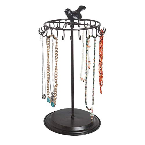 Black Bird Rotating Necklace Holder Bracelet Stand/Jewelry Organizer/Jewelry Tree