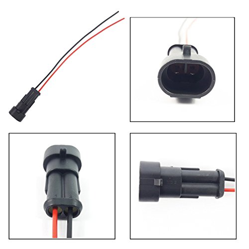 FOG LIGHT EXTENSION WIRING HARNESS LOOM (MALE, 2 PIN):
