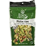 Eden Foods Organic Shelled and Dry Roasted Pistachios, 4 Ounce -- 15 per case.