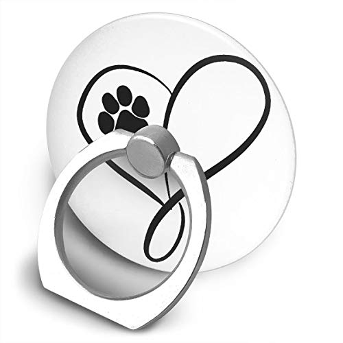 C-Emily Cat Dog Paw Prints Heart Phone Ring Stand Holder 360 Degree Rotation Cell Phone Finger Stand Car Mount Almost All Phones Cases