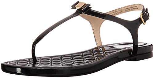 Cole Haan Women's Tali Mini Bow Sandal, Black Patent, 7.5 B - Bow Cole