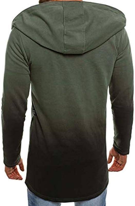 Męska bluza z kapturem z długim rękawem bluza długa cardigan bluza z kapturem nieregularna bluza z kapturem trencz skok kolor kurtka z dzianiny sweter z kapturem kurtka rekreacyjna M-5XL: Odzież