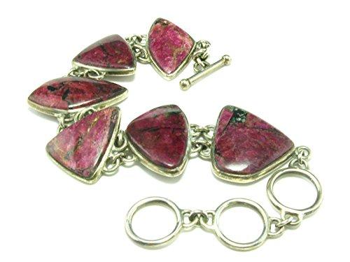 Eudyalite Sterling Silver Bracelet From Russia - 7.5'' by Eudyalite