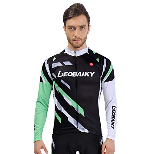 a37f65952 EoCot Men s Bicycling Jersey Bike Cloth Cycling Shirts Tops Breathable  Jacket Bicycle Tights Shirt Black Size XXL