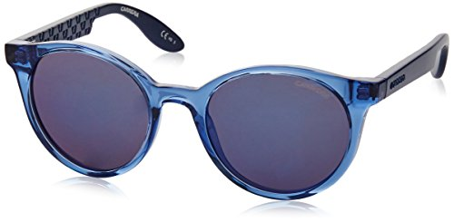 Carrera Kids Wayfarer Sunglasses, Azure Blue/Blue Sky Mirror, 46 - Sunglasses Lady Gaga Round