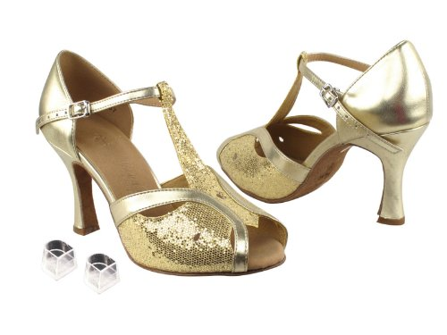 [Very Fine Dance Shoes] レディース B00FYAFUCO Gold Scale & Light Gold 4.5 B(M) US