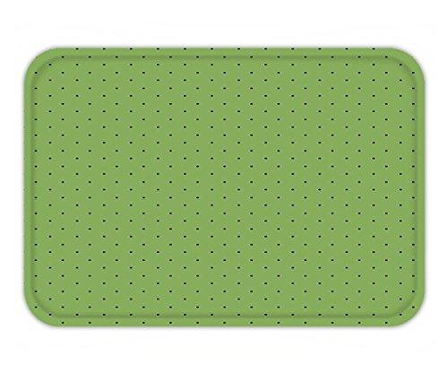 Minicoso Doormat Green Vintage Retro Pop Art Style 50s 60s Inspired Popular Polka Dots Artwork Fern Green and - 50s Popular Names