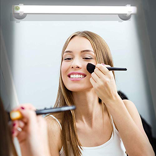 Wireless LED Mirror Lights,Portable Vanity Lights | Simulated Daylight | 4 Brightness Level Touch Control | Rechargeable,Makeup Lights Includes Makeup Eye Brush