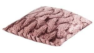 Timo Cojín terciopelo WOLL imitación color rosa 45x 45