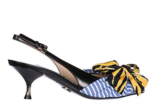 De Prada Schoenen Van Vrouwen Lederen Pumps Met Hak Hoge Hakken Blu
