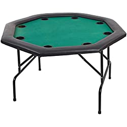 Karmas Product 48in Folding Texas Poker Table with Cup Holders for 8 Players