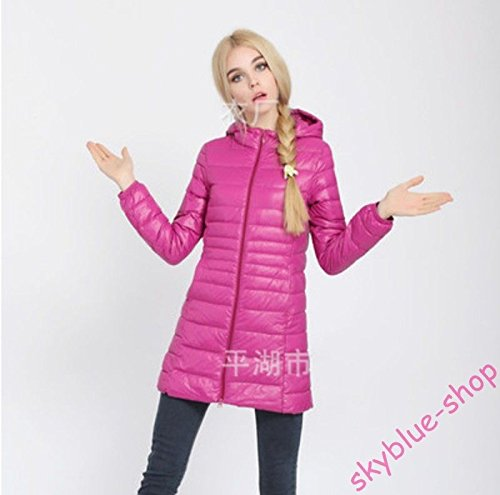 Black Long XL New Parka Ladies Jacket Candy Hot Slim Fit Colors L Thin UK Coat Asia Hooded UK Asia M S Down Outwear pink SwqwOF