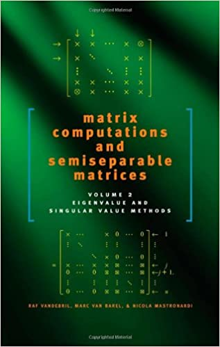 Matrix Computations Johns Hopkins Studies in the Mathematical Sciences