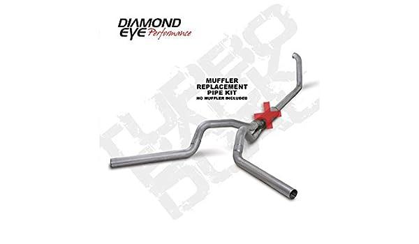 "Diamond Eye 4/"" Turbo Back Exhaust System NO MUFFLER 99-03 Ford 7.3L POWERSTROKE"