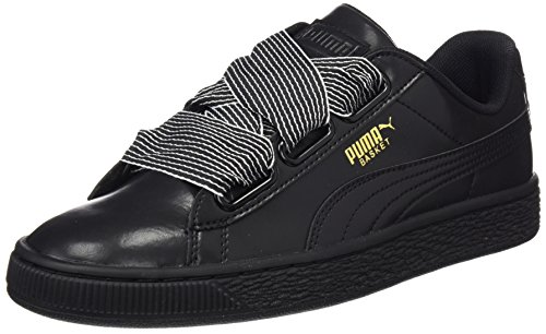Heart puma Femme Black Basket Black Basses Wn's Sneakers Puma Puma Noir w65Azqq