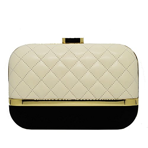 QUILTED NAPPA LOVE MOSCHINO IN PELLE, NERO-AVORIO, PZ, Love Moschino