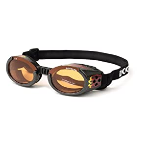 Doggles ILS Dog Goggles UV Sunglasses ALL SIZES Eye Protection Lens Shades New (Doggles ILS Goggles/Sunglasses, XL, Black with Racing FLAMES)