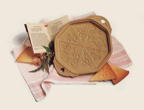 Brown Bag Cookie Art Ceramic Shortbread Pan in Wildflowers
