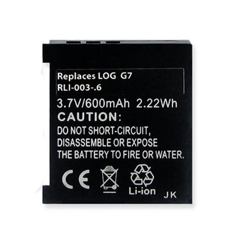 Garmin 190310-1000 Replacement Battery RLI-003-.6 Li-Ion 3.7V (600 mAh) Battery - Replacement For Logitech L-LL11 and NTA2319 - Li Ion 600mah Photo Battery