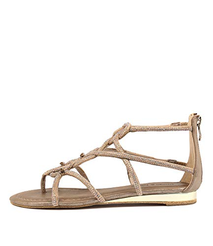 DJANGO & JULIETTE 391 Womens Shoes Sandals Flat Sandals BRONZE SMOOTH