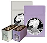 BCW Eagle Dollar Coin Display Slab Foam Inserts - No Slabs (Display Box of 25) Coin Collecting Archival Storage Supplies, White