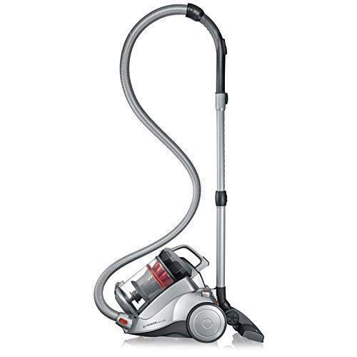 Severin Germany Nonstop Corded Bagless Canister Vacuum Cleaner, Polar Silver (Renewed)
