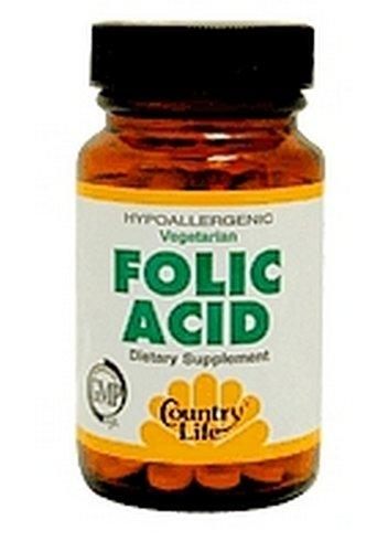 Country Life Acide folique 800 mcg, 100 comprimés