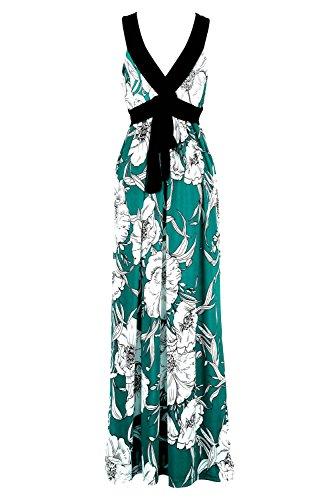 G2 Chic Women's Spring & Summer Casual Printed Maxi Dress(DRS-MAX,LBLA4-XL)