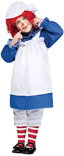 Fun World Costumes Baby Girl's Raggedy Ann Toddler Costume, Blue/White/Red, -