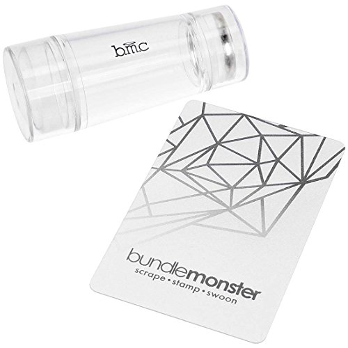 BMC Dual Ended Clear Silicone Nail Art Stamping Heads w/ See Through Handle - Glass Stamper Collection