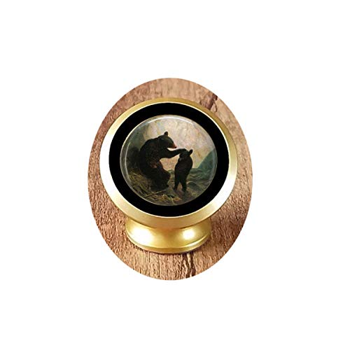 Mama Bear and Cub Brooch - Momma Bear - Mother's Day Brooch - Bear Cub Jewelry - William Holbrook Beard, Dance Recital Magnetic Car Phone Mount Holder]()