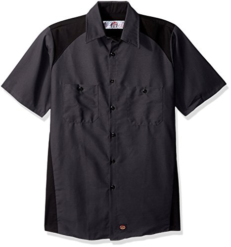 Red Kap Men's Motorsports Shirt, Short Sleeve, Charcoal/Black, X-Large from Red Kap