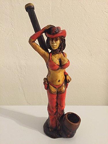 Handmade Tobacco Pipe, Sexy Cowgirl Design