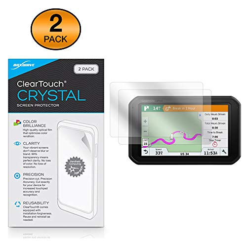 Garmin Dezl 780 LMT-S Screen Protector, BoxWave [ClearTouch Crystal (2-Pack)] HD Film Skin - Shields from Scratches for Garmin Dezl 780 LMT-S | DezlCam 785 LMT-S