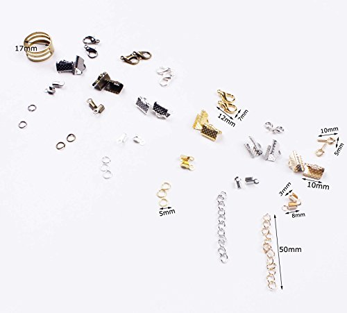 Review BIHRTC 24 Style 1940 Pcs Jewelry Making DIY Kit Accessories Lobster Clasps, Screw Eyes Pin, Cord Ends, Ribbon Ends, Jump Rings, Extension chain with Jump Ring Open Tool in a Clear Box