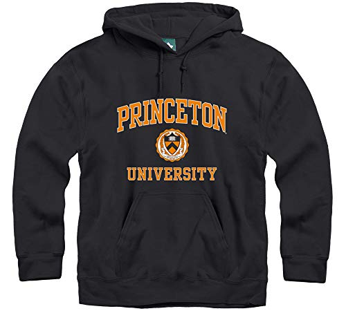 Ivysport Princeton University Hooded Sweatshirt, Crest, Black, Medium