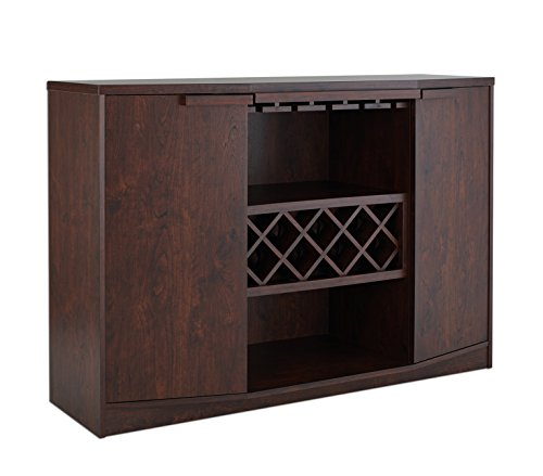 ioHOMES Annadel Wine Cabinet Buffet, Vintage Walnut (Buffet Bar)