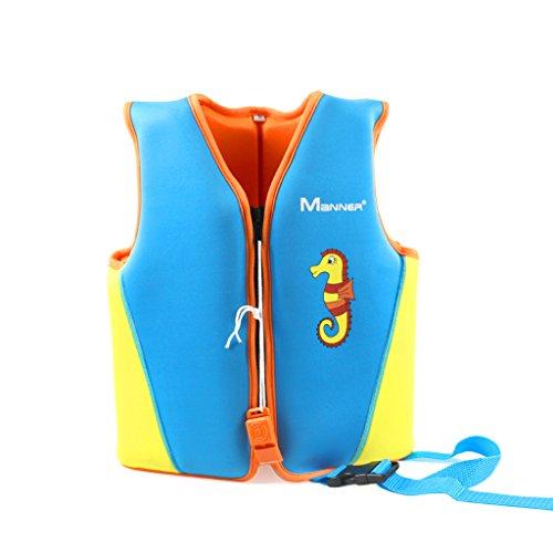Swimwear Flotation (Kids Swim Vest Float Swimsuit - Boys Girls Children Neoprene Buoyancy Jacket)