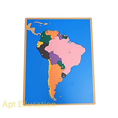 Apt Education Montessori Puzzle Toy South America Map(Without Control Chart): Office Products