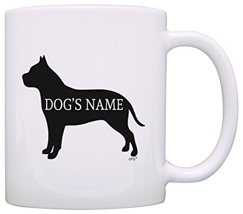 Personalized Dog Owner Gift Pitbull Add Dog's Name Pet Dog Lover Gift Coffee Mug Tea Cup White
