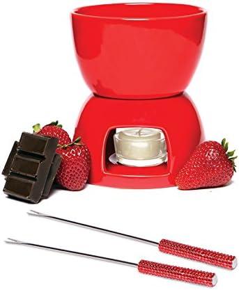Chocolate Fondue Set Red